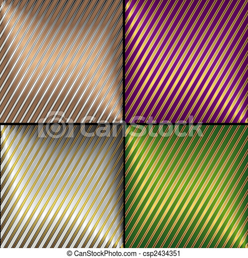 Collection vector diagonal striped backgrounds - csp2434351