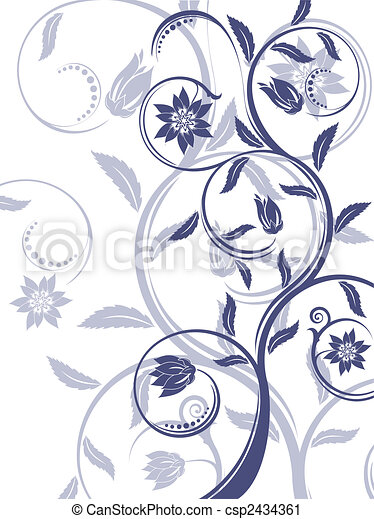 Floral background. - csp2434361