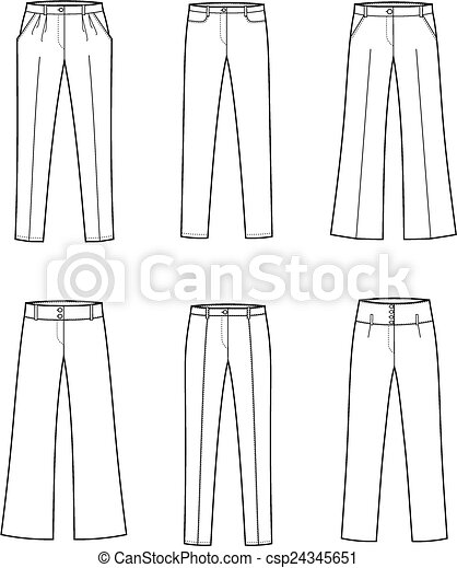 Simple Drawing Jeans Bootscut Pants Trousers Pattern Painting Denim Pants