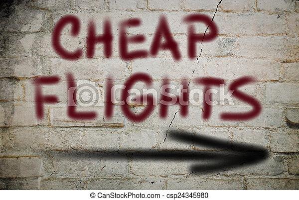 Cheap Flights Concept - csp24345980