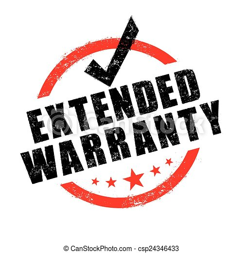 Extended Warranty Logo Stamp of Extended Warranty