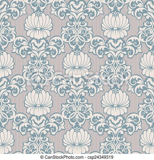 Elegant Seamless Vector Patterns Vector Damask Seamless Pattern