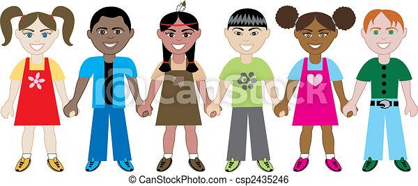 kidsholdhands - csp2435246