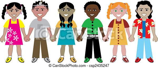 kidsholdhands2 - csp2435247