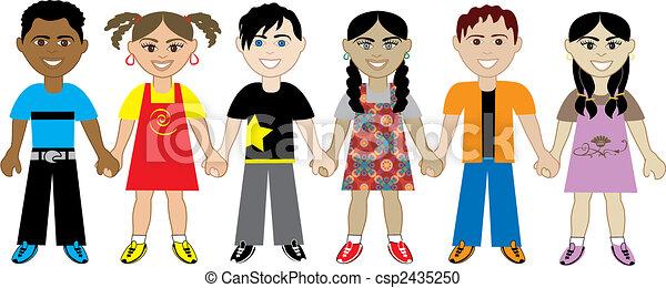 kidsholdhands5 - csp2435250