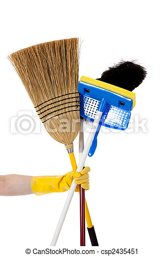 Housework - Broom, mop, duster - csp2435451