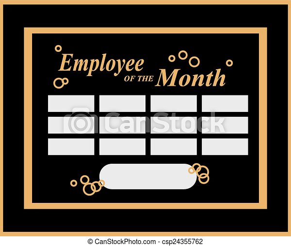 Clip Art Vector of Employee of the Month - Employee Of The Month ...