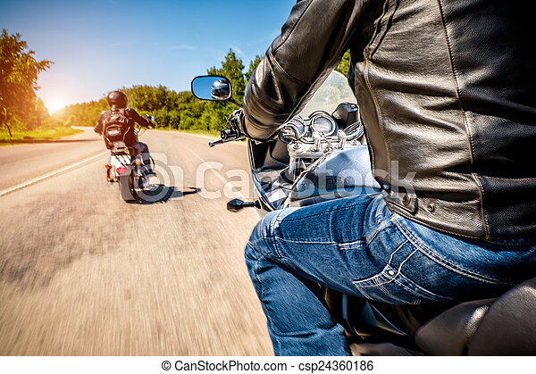 Bikers First-person view