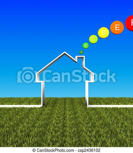 eco house low energy background - csp2436102