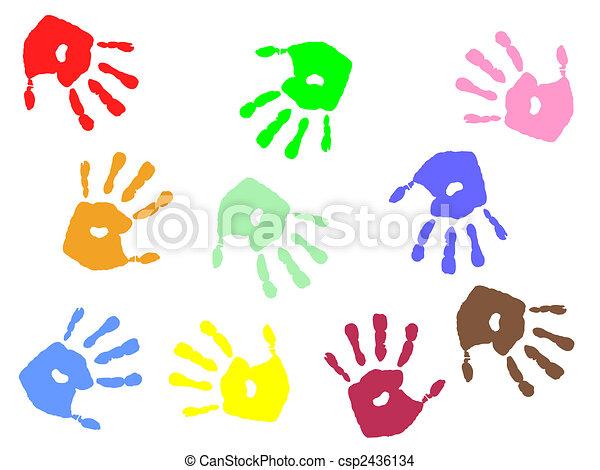 hand prints - csp2436134