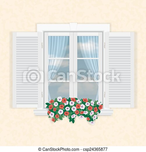 Vektoren illustration von wei es fenster fensterl den for Fenster 800x800
