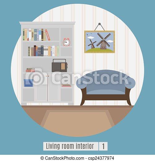 Vetor vivendo sala estoque de ilustra o ilustra es for Sala de estar 3x5