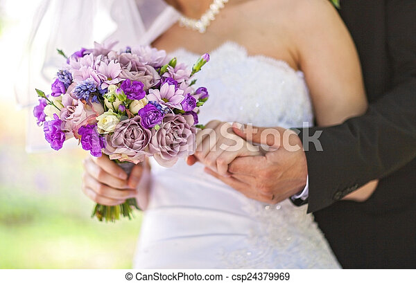 bukett, bröllop - csp24379969