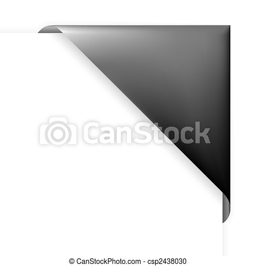 Black corner holder - csp2438030