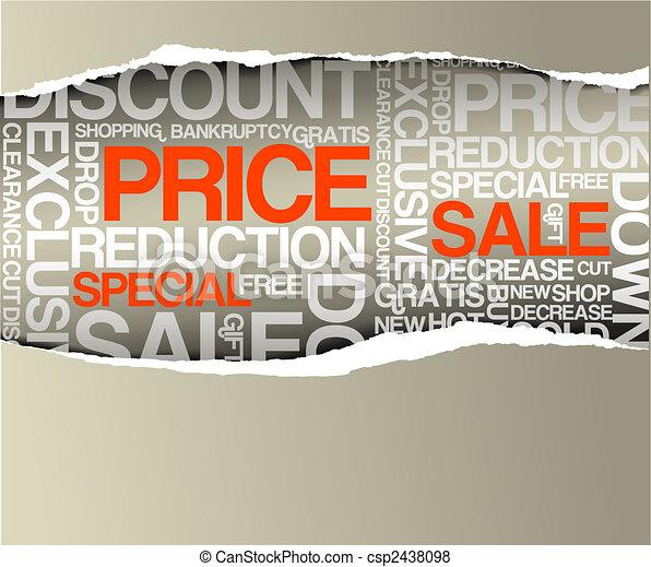 Sale discount advertisement - csp2438098