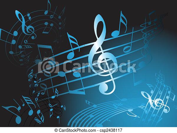 Blue music theme - csp2438117