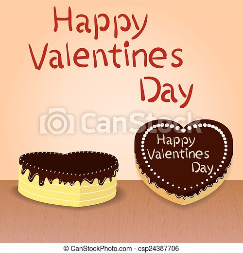 Heart-Shaped Cake Stock Illustration - Instant Download ...