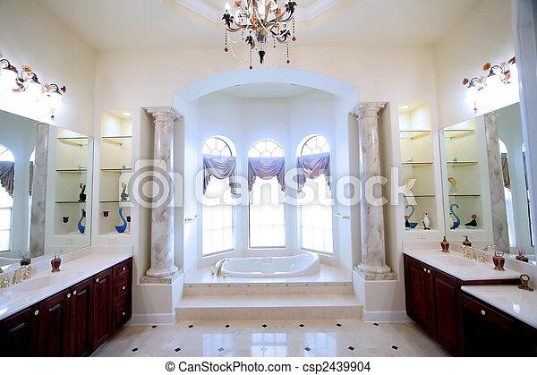 luxusbadezimmer 1. luxus bad runde eck duschkabine creme badmoebel ...