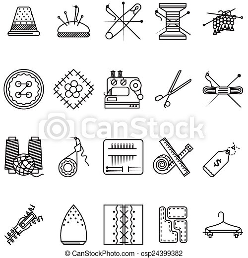 Black Line Icons Vector Collection For 24399382 on chess vector graphics
