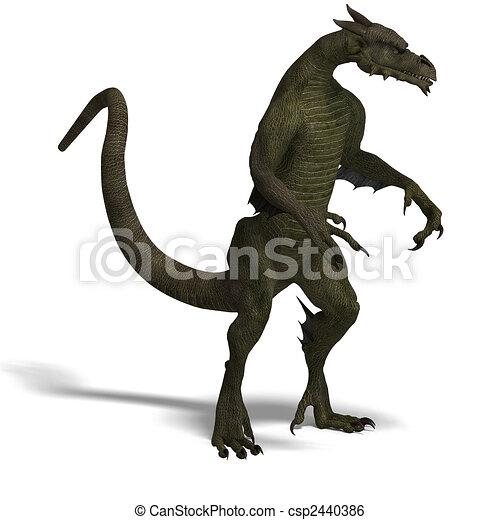 Member of the fantasy dragon folk - csp2440386