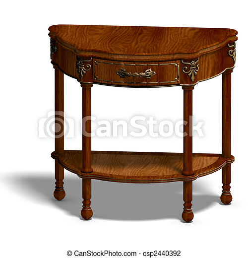 historic coffee table of louis XV. - csp2440392