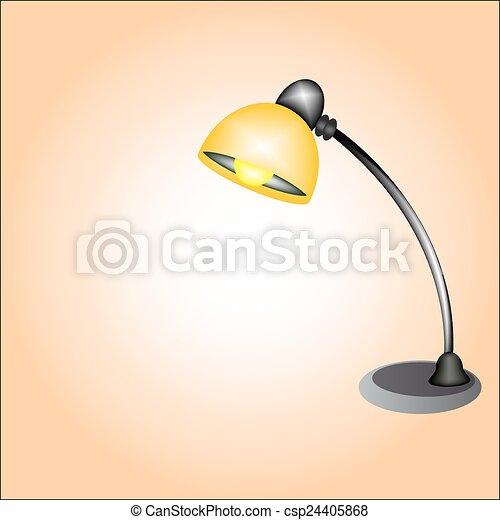 clip art vecteur de bureau lampe ic ne csp24405868 recherchez des images graphiques vecteur. Black Bedroom Furniture Sets. Home Design Ideas