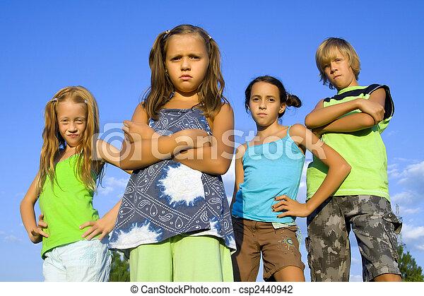 Gang of four kids - csp2440942