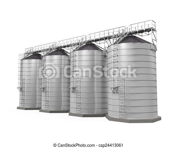 Grain silos Clipart and Stock Illustrations. 120 Grain silos ...