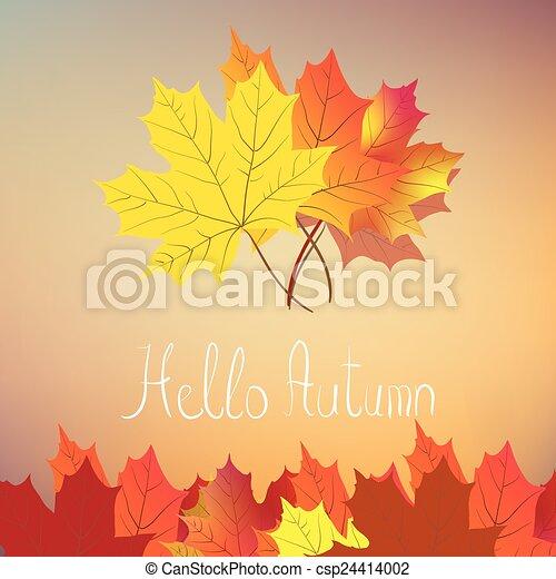 Hello Autumn Drawing Hello Autumn Csp24414002