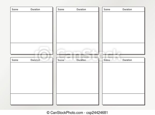 Vector Of Tv Commercial Storyboard Template X6 - Professional Of