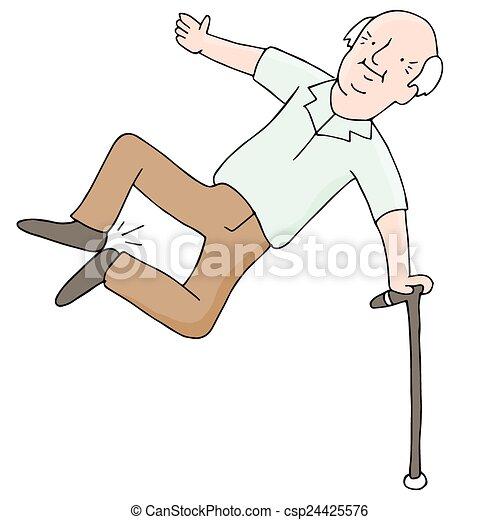 Excited Senior Citizen - csp24425576