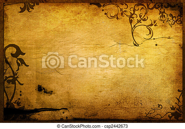Alkat, virágos, mód, Háttér, Keret - csp2442673