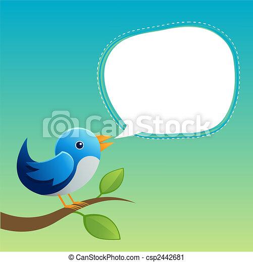 Blue Twittering Bird - csp2442681