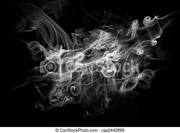 Smoke On A Black Background - csp2442899