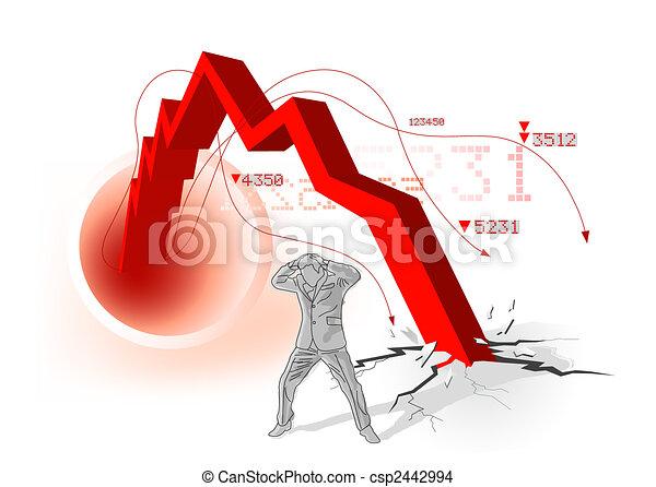 Global Economic Downturn - csp2442994