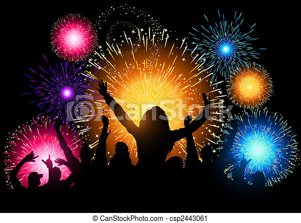 Fireworks Night Party - csp2443061