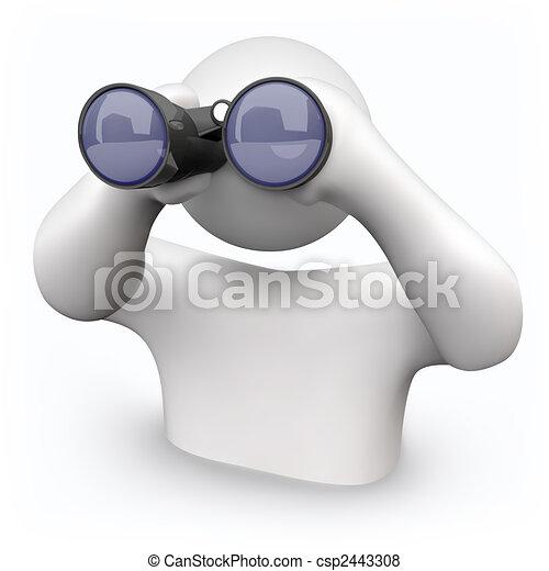 Binoculars - Looking for Help - csp2443308