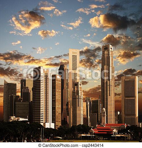 A View of Singapore City - csp2443414