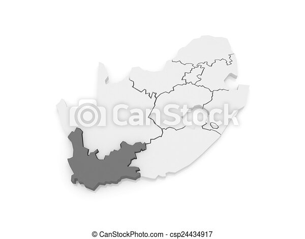 Map South Africa Towns South Africa Map of Western