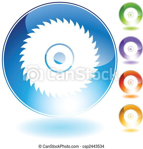 circular saw blade crystal - csp2443534