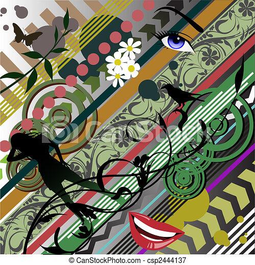 Pop Art Background - csp2444137