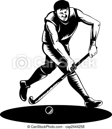 Clip Art Field Hockey Clipart field hockey illustrations and clipart 1322 royalty player running with ball illustration of a