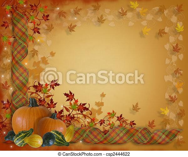 Thanksgiving Autumn Fall Border - csp2444622