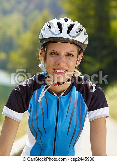 Female Cyclist Illustration