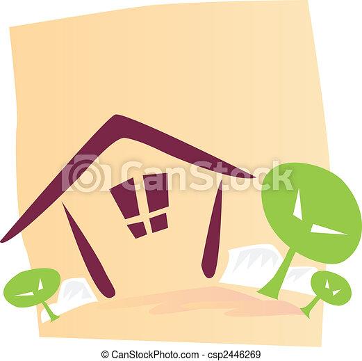 Nature living pictogram - csp2446269