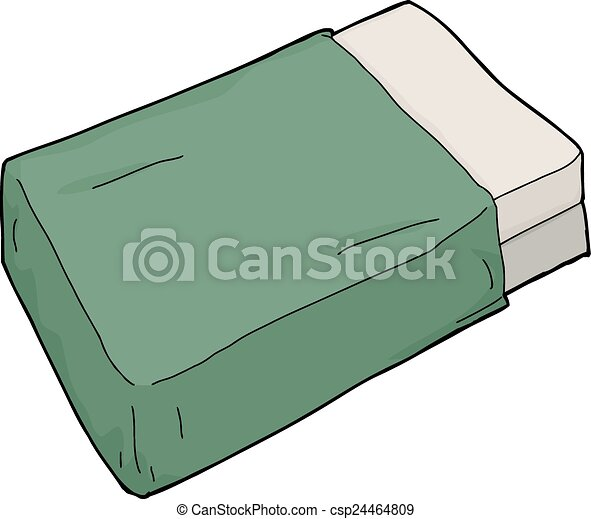 Vector Clipart Of Mattresses With Green Blanket Single