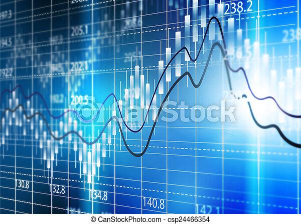 diagram., 圖表, 股票, 分析, 交換 - csp24466354