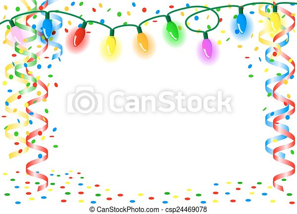 party background with chain of lights