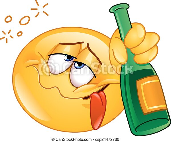 vector of drunk emoticon holding an alcoholic drink bottle drunk clip art free drink clipart