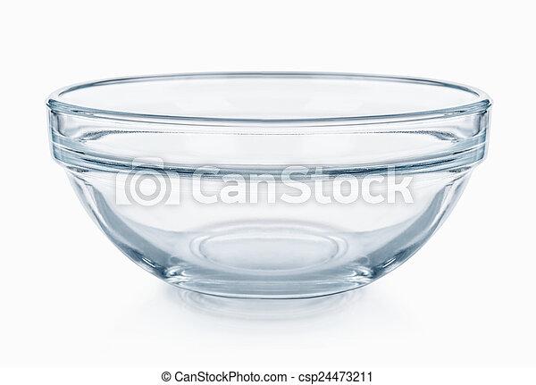 Glassware. Empty salad bowl on a white background - csp24473211